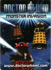 Dr Who Monster Invasion Rare Trading Cards Choose From Drop Down List