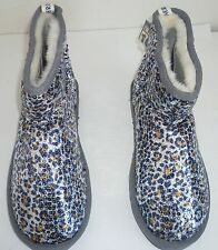 Womens AEROPOSTALE Sequin Animal Print Dorm Booties Slippers NWT #9621 #9622