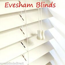 MADE TO MEASURE CREAM Bass Wood Wooden Blinds Venetian Blind