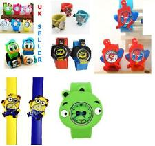 Boys/Kids/Girls Silicone Snap/Slap on WATCH SPIDERMAN/ HELLO KITTY WRIST WATCHES