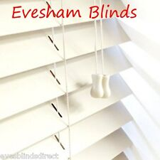 PREMIUM MADE TO MEASURE BLIND  Wood CREAM Wooden Venetian Blinds Best Quality