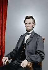 President Abraham Lincoln Color Tinted photo Civil War 4272389308