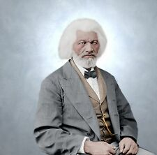Frederick Douglass African-American slave Color Tinted photo Civil War 05089