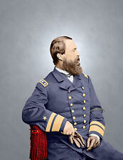 Admiral Porter Navy Color Tinted photo Civil War 01078