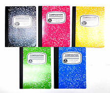 Composition Book Wide Ruled Notebook Assorted Colors Cover Note Books