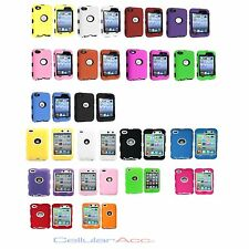NEW  Hybrid Tough Case cover for ipod Touch 4 4th Gen Multi Colors