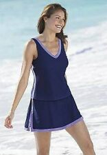 5257   PLUS 2 Pc Navy/Purple Swimsuit Assorted Sizes Available