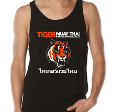 Tiger Muay Thai MMA Gym Workout Training Martial Arts Singlet Tank Mens 3 Colors