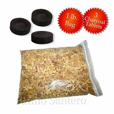 FRANKINCENSE Resin Incense+ Free Natural Charcoal for Church oz lb pound Iglesia