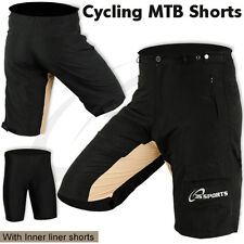 MTB Cycling Short Off Road Cycle CoolMax Padded Liner Shorts  Size M, L, XL