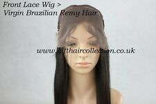 Virgin Brazilain Remy Front Lace Wig * NEW STOCK* + *UK FREE NEXT-DAY DELIVERY*