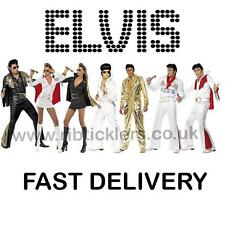 Elvis Costumes Fancy Dress Elvis Presley Mens Ladies Size 8-18 S M L NEW