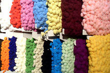 POM POM BOBBLE TRIM FRINGE - MEDIUM SIZE 10mm 17 COLOURS 1m & more      #D