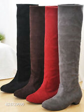 NEW Classic Women's Comfort Low Heel Knee High Boots Shoes AU All Size Y065