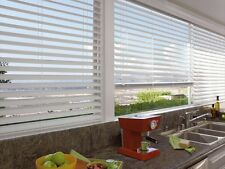 "Custom Off White WIDE SLAT NO HOLE PRIVACY 2 1/2"" Faux Wood Blind FREE SHIPPING!"