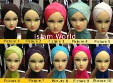 All Colour's Ninja Neck Cover Hijab Tight Fitting, Plus Fancy Arabian Hijabs