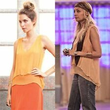 Winter Kate - Sati Top in Golden Nugget  - 100% Silk - as seen on  Nicole Richie