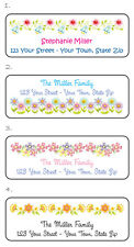 Personalized Beautiful FLORAL DESIGNS Flowers Address Labels Buy 5, Get 1 FREE