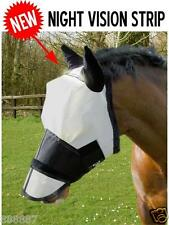 GEE TAC FLY RUG  FACE EYE CLEARANCE FLY MASK VEIL UV RATED WHITE REFLECTS  SIZES