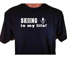 Skiing Is My Life Ski Skier Winter Snow Sport T-Shirt