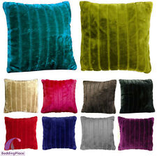 New Plain Faux Fur Cushion Covers, 45x45 cm, 18 x 18 inches Free Postage