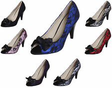NEW WOMENS/LADIES WEDDING EVENING PARTY PROM HIGH HEEL PLATFORM COURT SHOES