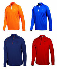 PUMA Golf Mens 1/4 Zip LS Polo Shirt 2012 Orange Surf the Web pick size & color