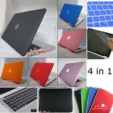 4in1  For Mac Pro 13/Pro 15 Rubberized  Hard Case(No Cut-out)+KB Cover+Bag+film