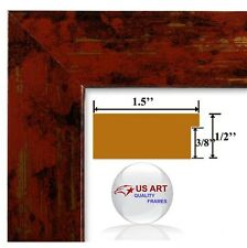 Exotic India Red & Gold Finish Picture Poster Photo FRAME  Wood Composite 19 in
