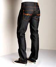AUTHENTIC MENS NUDIE JEANS DENIM CO SLIM JIM DRY BROKEN TWILL RAW RIGID $180+