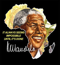 Nelson Mandela South Africa Freedom Fighter Madiba painting T-shirt by KYEGOMBE