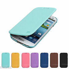 FEELOOK SLIM FLIP LEATHER WALLET COVER HARD CASE FOR GALAXY S III 3 S3 I9300