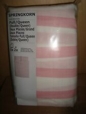 IKEA Duvet Quilt Cover & pillowcases 3 pcs Set SPRINGKORN White Red or Pink NEW