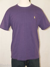 Polo Ralph  Lauren Purple T-Shirt Yellow Polo Pony M XL XXL NEW
