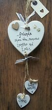 FRIEND Birthday Gift Personalised Heart 18th 21st 30th 40th 50th 60th Plaque