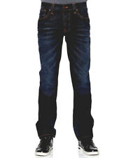 AUTHENTIC MENS NUDIE DENIM JEANS CO SLIM JIM ORGANIC BROWN INDIGO ITALY $249+