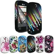 Silicone Gel Case Cover FOR LG Optimus ME P350 Free Screen Protector+Mini Stylus
