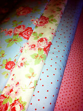 Cath Kidston ROSALI Fabric Material Pink White Rose IKEA 150cm wide/by the Metre