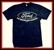 Ford An American Classic Mens T-shirt  Ford Motor Mustang power racing Tee NAVY