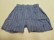 POLO RALPH LAUREN CLASSIC COTTON WOVEN BOXER BLUE WHITE STRIPE MENS SIZE 30  42