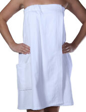 Terry Cotton Womens Bath Wrap, Wrap for Women with Pocket