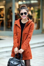 New female Korean version of the Slim Fit zipper hooded jacket / coat F3#
