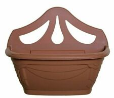 Plastic 42cm Venetian Garden Wall / fence  Planter - Terracotta made in uk