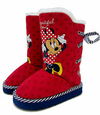 Disney Girl's Monterey Boots By Minnie Mouse - Red (Sizes 6,7,8,9,10,11,12)