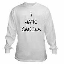 I HATE CANCER  survivor patient lung prostate breast colon LONG SLEEVE T-SHIRT