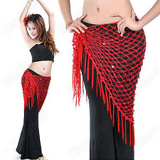 New Belly Dance Costume Triangular Dancing Dress Wrap Hip Scarf Shawl Dancewear