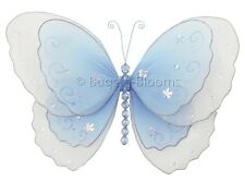 Butterfly Decoration Blue Wall Hanging Girl Bedroom Party Nursery Bugs-n-Blooms