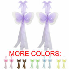 BUTTERFLY TIEBACK Curtain Sheer Holdback Hold Tie Back Multi Layered Decor PAIR