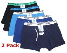 2x BONDS GUYFRONT COTTON TRUNK Boys Size 6,8,10,12,14 Underwear Boxer - 5 Colour