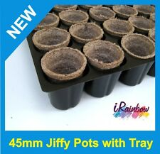 Jiffy Pots Round 45mm / Tray - Great for Propagation & Seedling & Cuttings